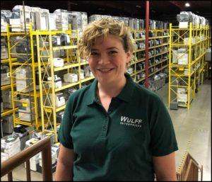 Tiffany, Sales Representative in Wulff Warehouse